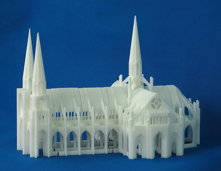 cathedrale de reims imprimée avec une up
